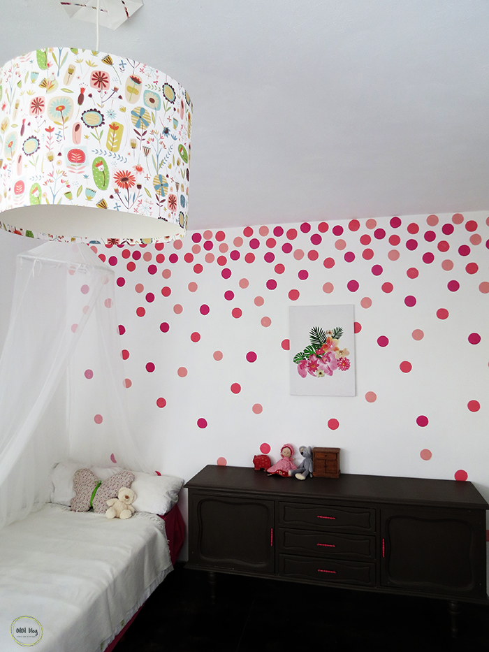 How to paint polka dots with a sponge - Ohoh Blog