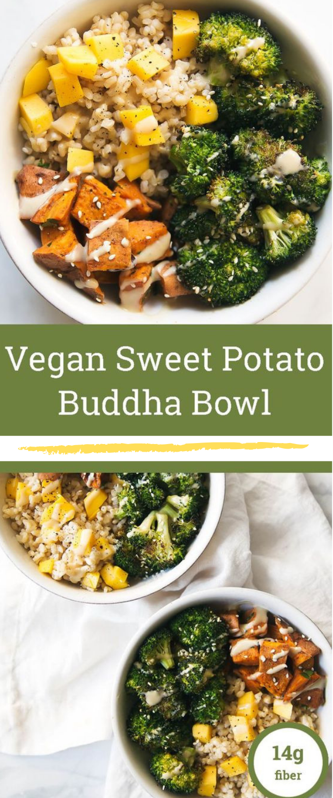 Vegan Sweet Potato Buddha Bowls with Almond Butter Dressing #vegan #sweetpotato
