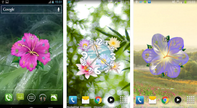 Flower Clock Live Wallpaper for Android app free download images1