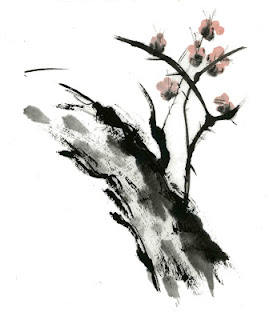 Arbol con tinta china