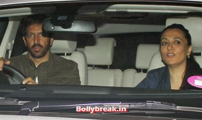 Kabir Khan an Mini Mathur, Deepika, Ranverr, Jackie, Malaika & Other Celebs at Gunday Special Screening
