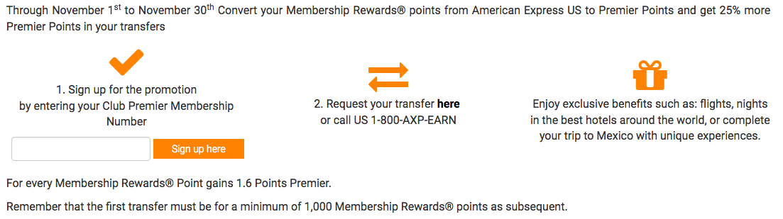 25 Bonus Club Premier Points When You Convert American Express Membership Rewards Full Details Online Registration Is Required