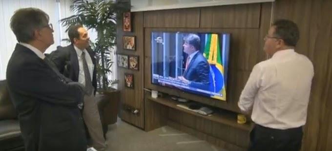 BRASÍLIA-DF: Ex Deputado Paulo Marinho se reúne com Senador Roberto Rocha(PSB), para discutir vinda do Porto Seco à Caxias