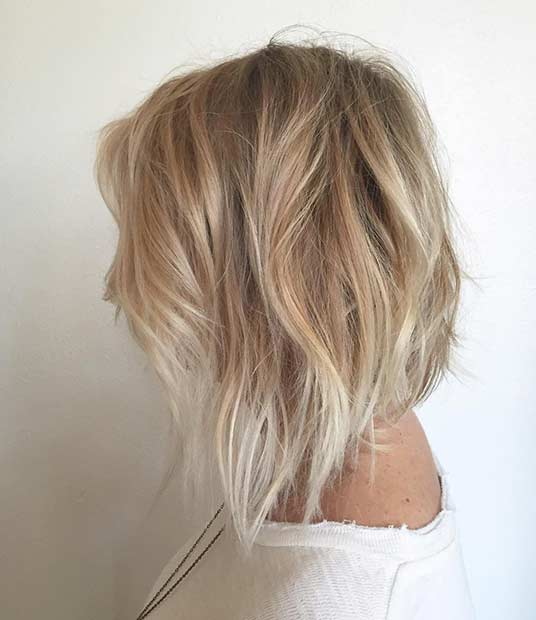 Beige blonde and silver blonde balayage