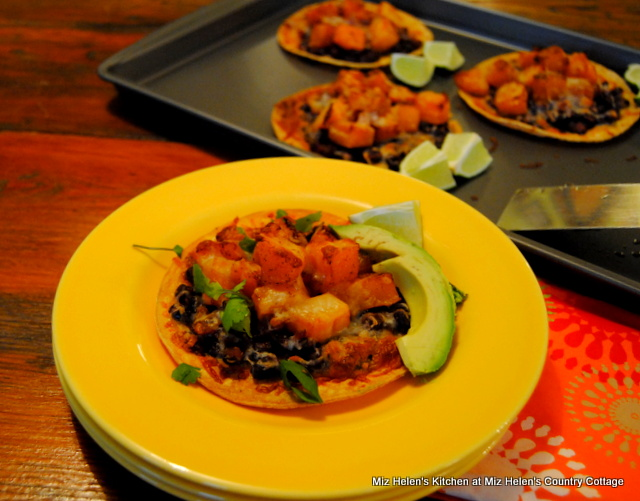 Black Bean-Butternut Tostada's at Miz Helen's Country Cottage