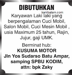 Lowongan Kerja Kusuma Motor Batam