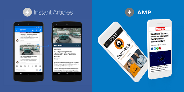 Facebook Artikel Instan versus Google Accelerated Mobile Pages