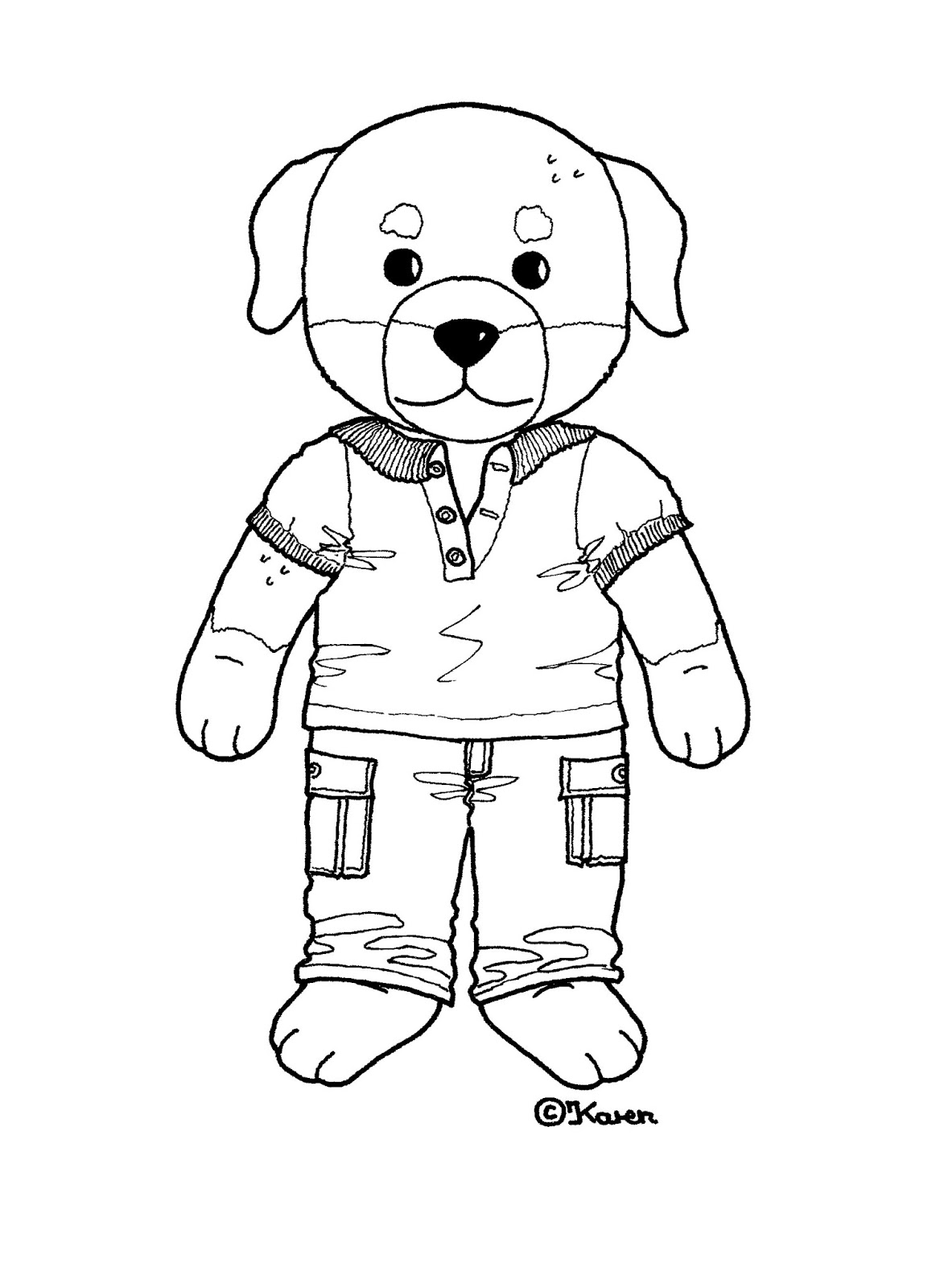 Karen`s Paper Dolls: Cato 1-2 Paper Doll to Print and