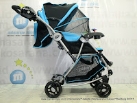 Kereta Bayi Pliko PK399 Paris Parent Tray 3-Layer Kanopi Light Blue