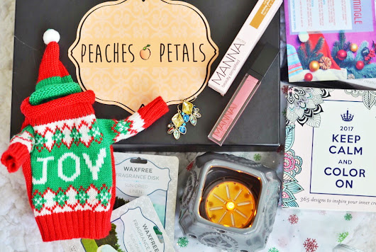My Review Love!!: Peaches And Petals - Jingle-y Mingle-y December Box & Exclusive Offer! #NewSubcribers