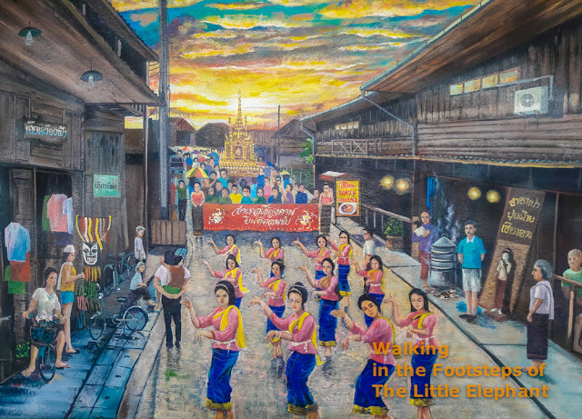 Art in Chiang Khan, Thailand