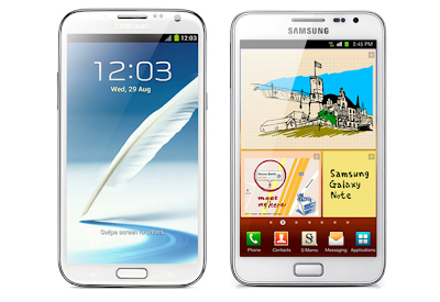 galaxy note vs galaxy note 2 specs comparison