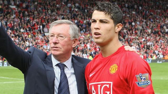 Sir Alex Ferguson and Cristiano Ronaldo Manchester United