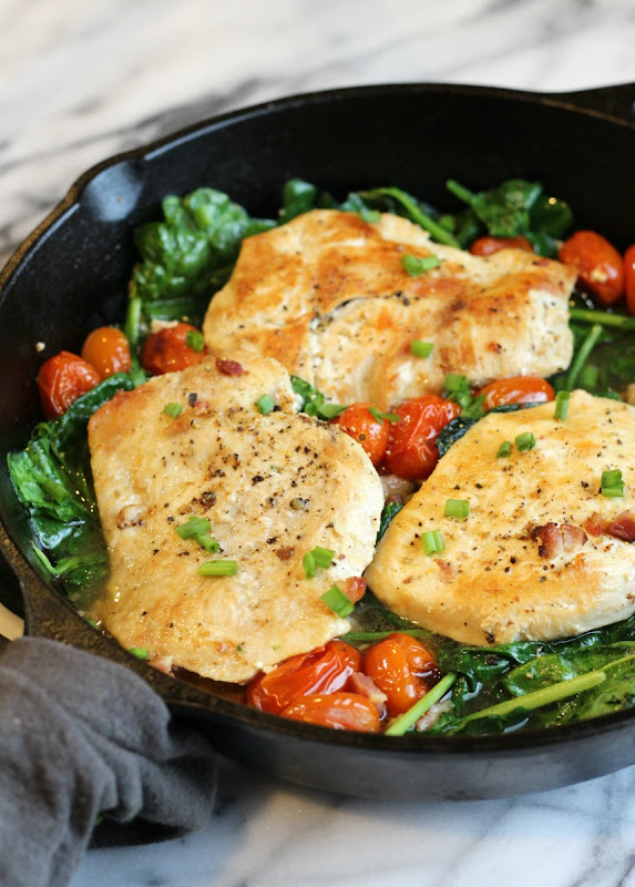Easy Chicken Spinach Pancetta #Recipe
