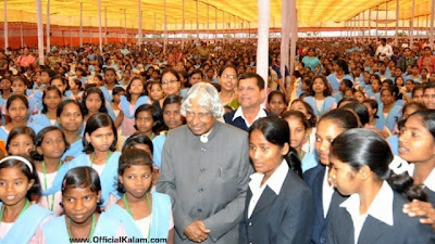 Representational: Dr. Kalam with more school students.