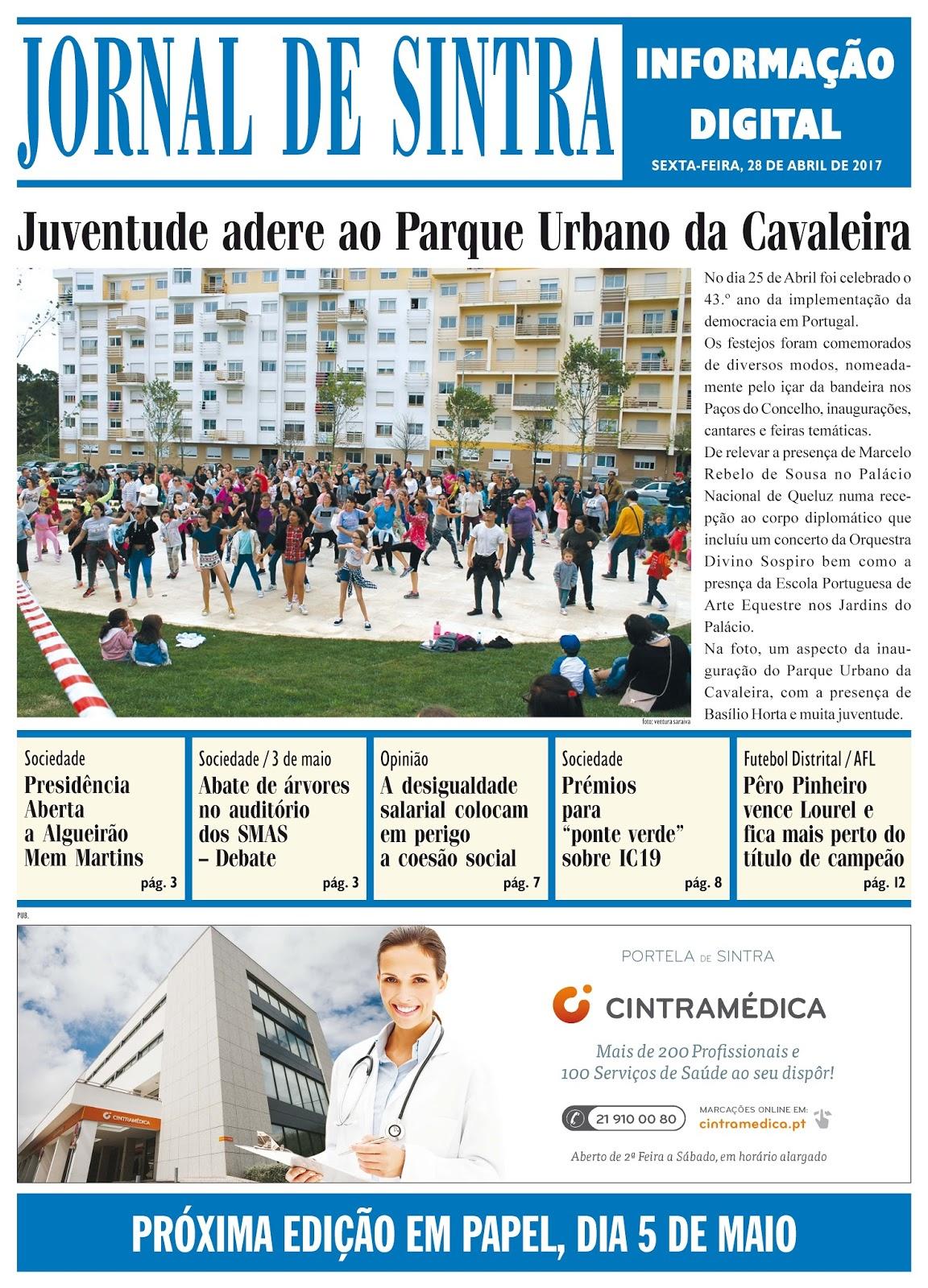 Capa da edição de 28-04-2017