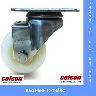 Bánh xe đẩy inox vật liệu bánh xe Nylon | 2-3356SS-254 | www.banhxepu.net