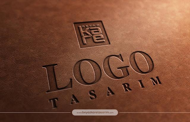 3D logo tasarımı deri