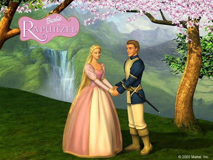 Mewarnai Barbie Rapunzel
