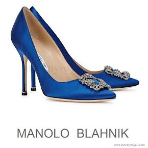 Princess Marie wore Manolo Blahnik 'Hangisi' Jeweled Pump