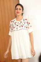 Lavanya Tripathi in Summer Style Spicy Short White Dress at her Interview  Exclusive 162.JPG