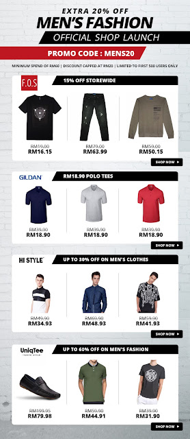 Shopee F.O.S Men's Fashion Official Shop Launch Sale