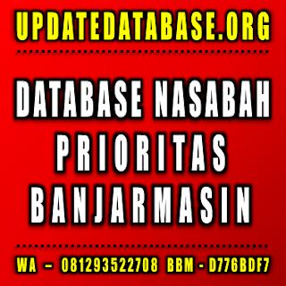 Jual Database Nasabah Banjarmasin