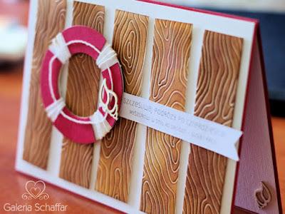 kartka karteczka prezent marynistyczny marine morski koło ratunkowe z papieru