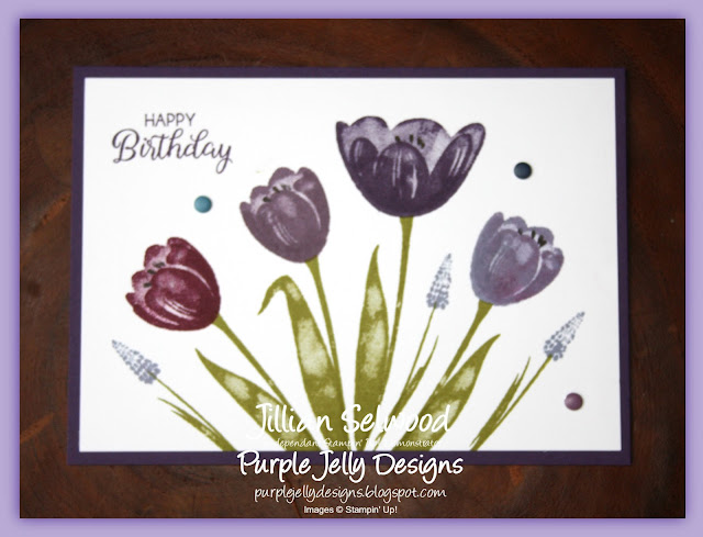 Tranquil Tulips, Perfect Plum, Rich Razzleberry, Elegant Eggplant, Wisteria Wonder