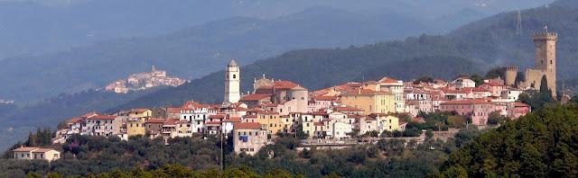Italian Hill Town of Castelnuovo Magra near Cinque Terre