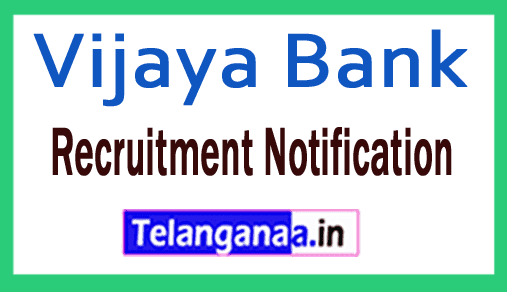 Vijaya Bank Recruitment Notification