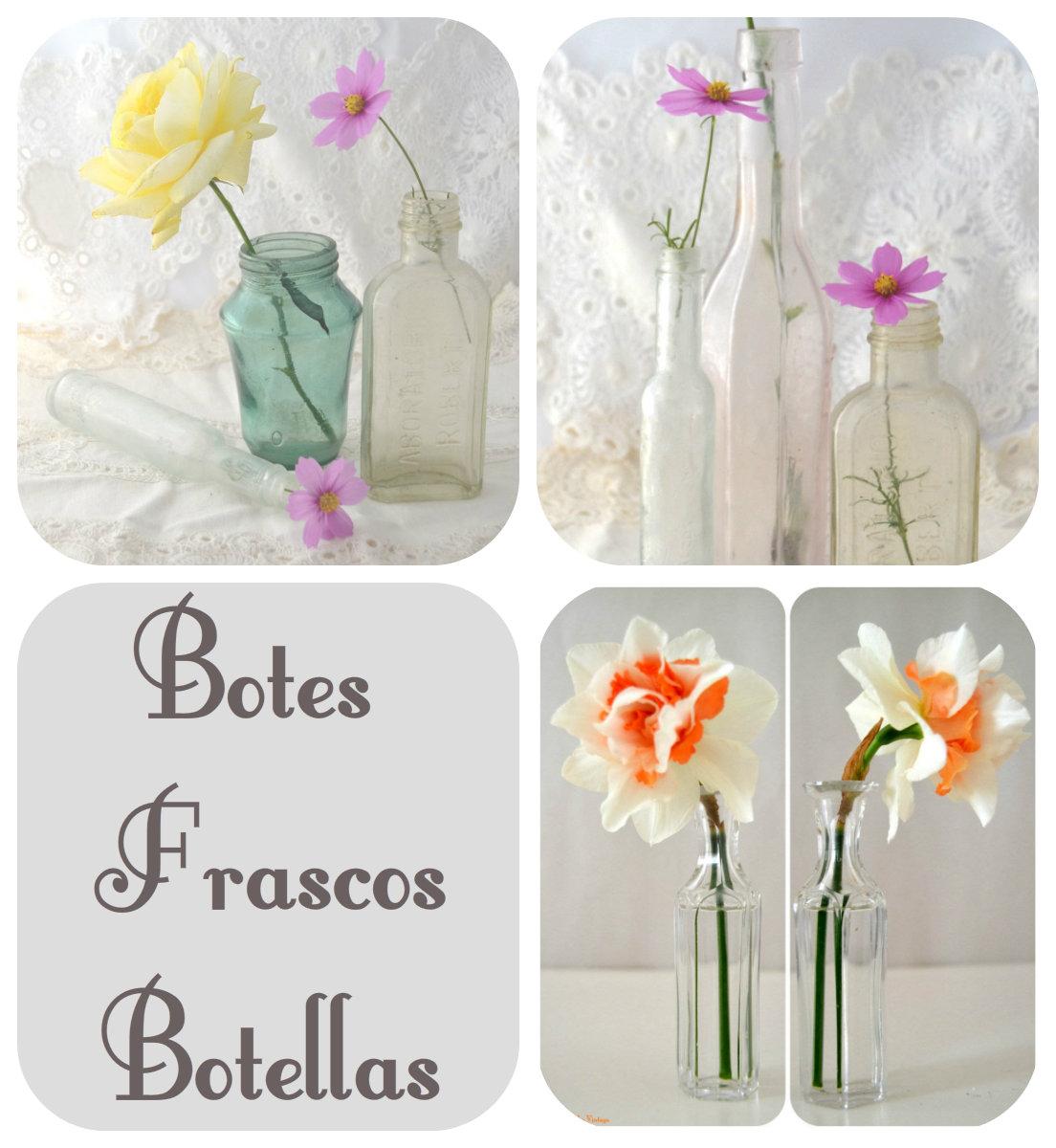 botellas, caja cristal, floreros de mesas, jarrones,copas, margaritas, rosas, centro flotante, botes metalicos, jarrars metalicas.