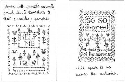 Embroidery Samples - The Trouble with Women by Jacky Fleming (WildmooBooks.com)