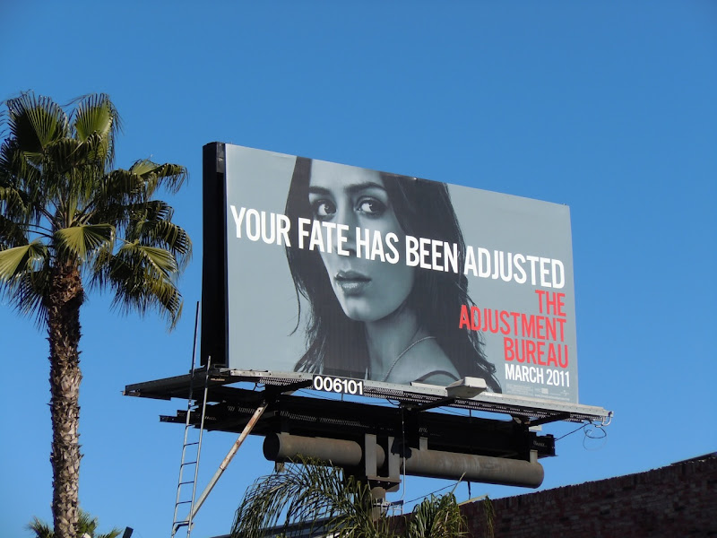 Emily Blunt Adjustment Bureau billboard