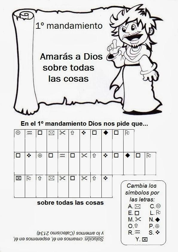 Parroquia La Inmaculada: Juegos: Los Diez Mandamientos