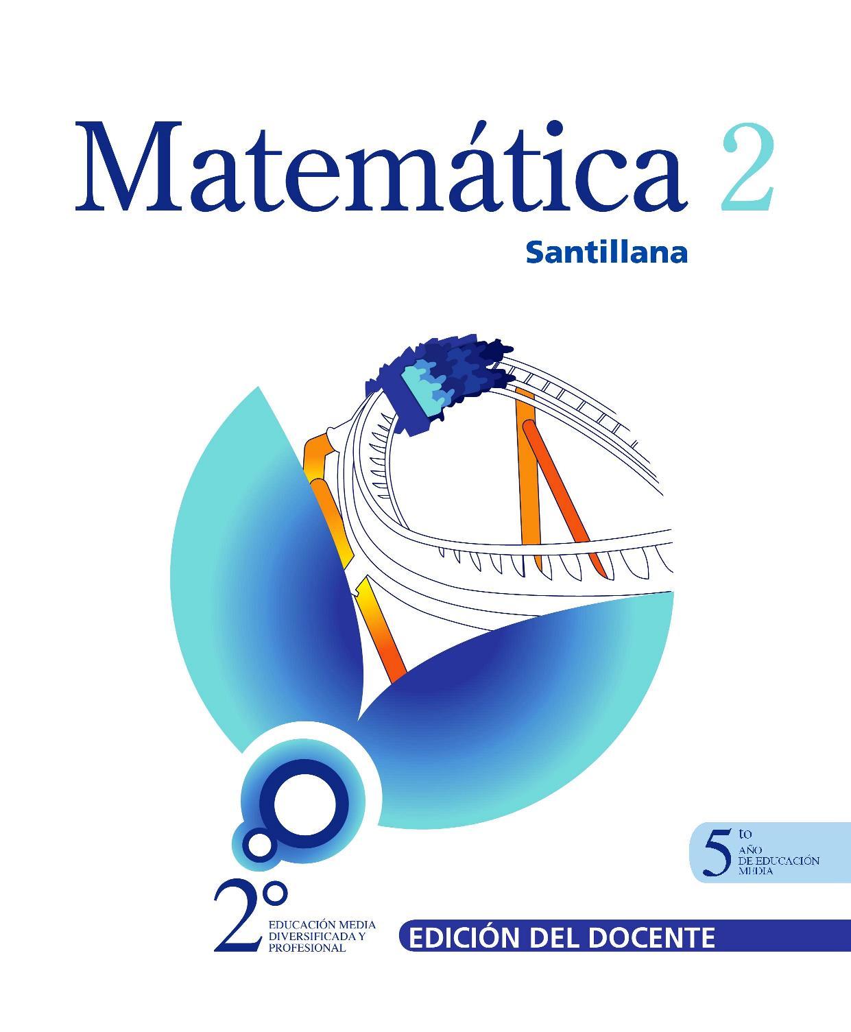 Matemática 2: 5to año de Educación Media – Santillana