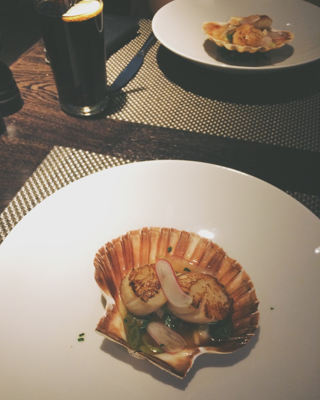 appetizer, glasgow food, scallop starter, where to eat in glasgow, dakota deluxe restaurant, glasgow restaurant, scottish seafood, the best seafood in the world,