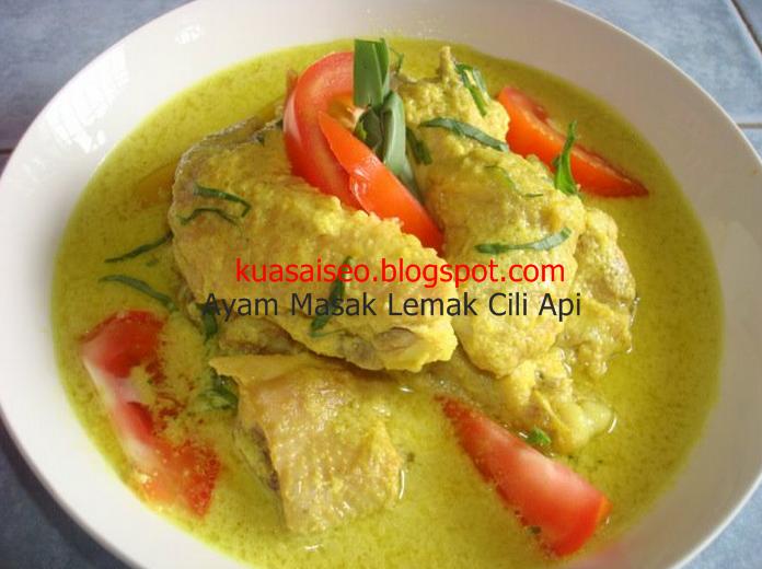 Resepi Ayam Masak Lemak Cili Api Style Negeri Sembilan