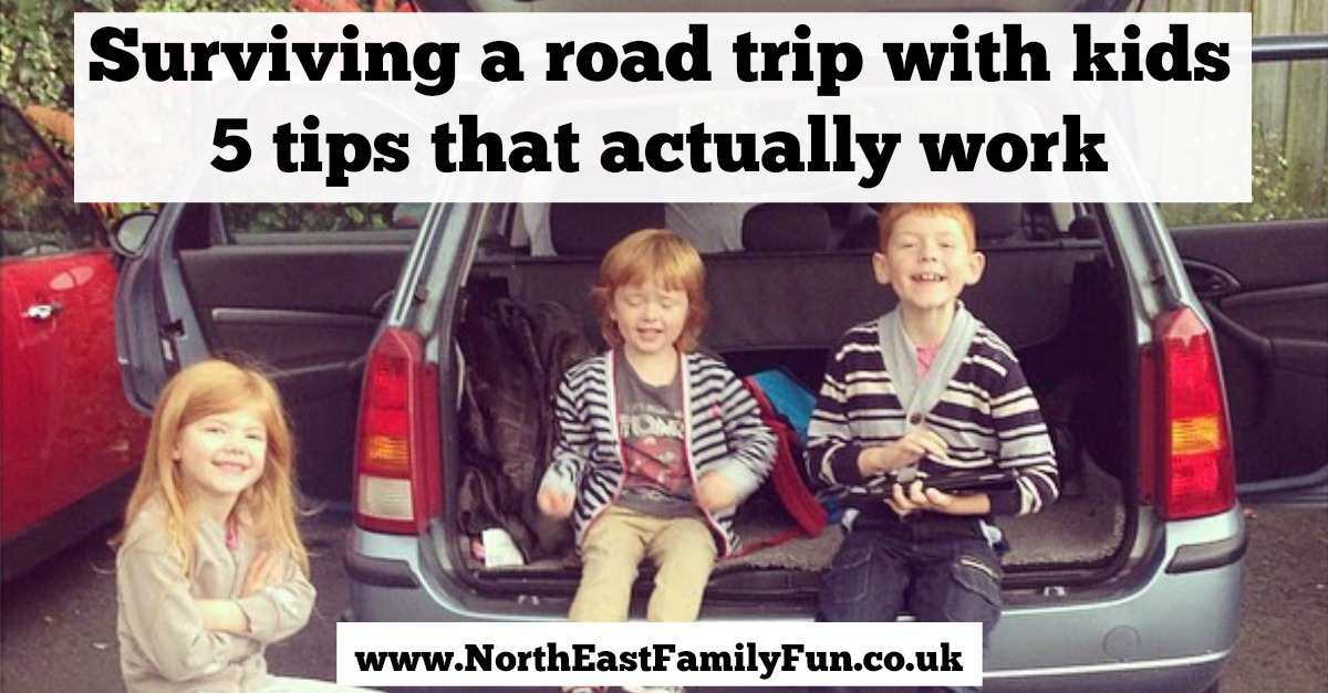 Surviving a road trip with kids | 5 tips that actually work including healthy snacks and our favourite apps.