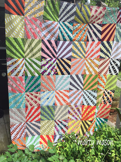 Karen Griska Ferris Wheel Quilt Pattern pieced by Marty Mason