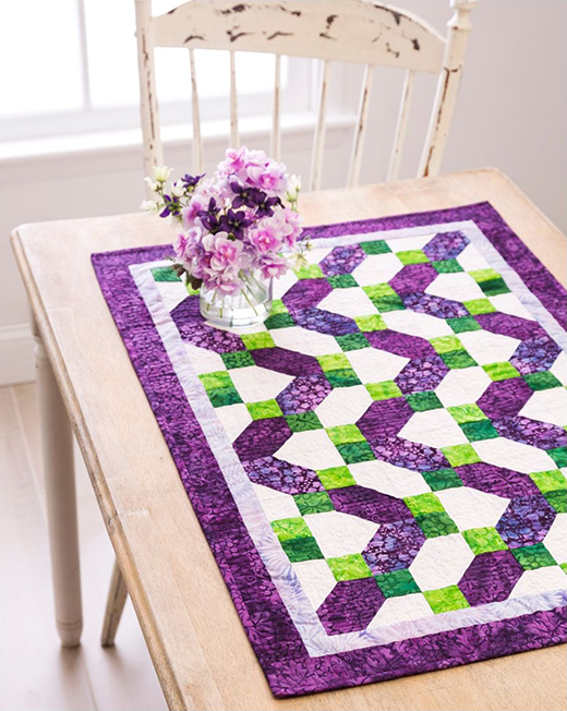 Ziggy Zag Table Runner Free Pattern designed by Accuquilt