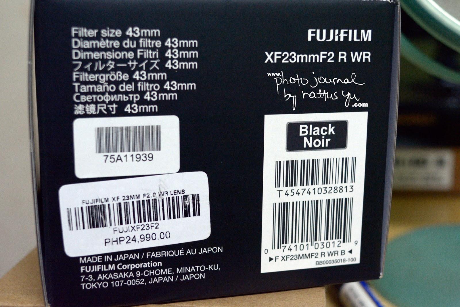 FUJINON Super EBC XF 23mm f/2