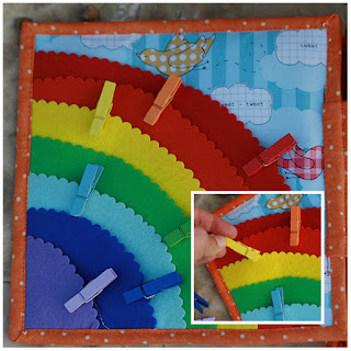 Rainbow pegs