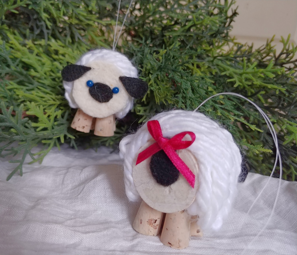 handmade sheep ornaments