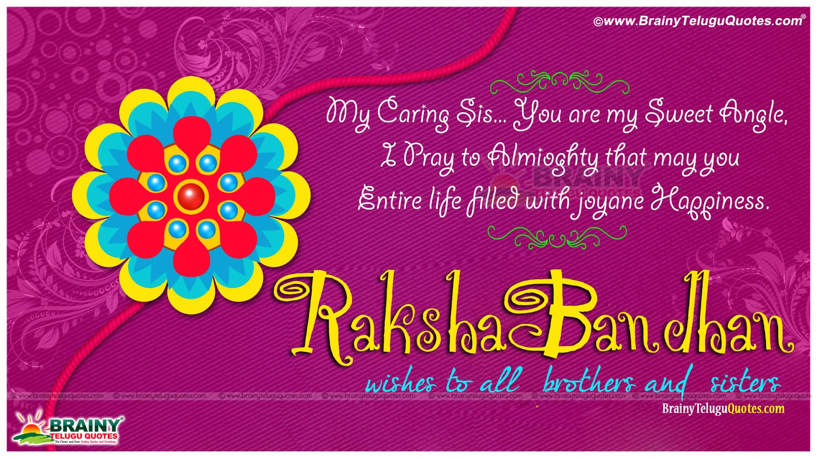 Happy raksha bandhan wishes with cool greeting cards new english raksha bandhan greeting and sms for brother in english brother rakhi messages and kristyandbryce Image collections