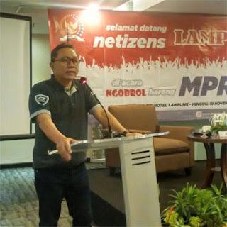 Ketua MPR RI di Acara Ngobrol Bareng MPR RI dan Netizen Lampung