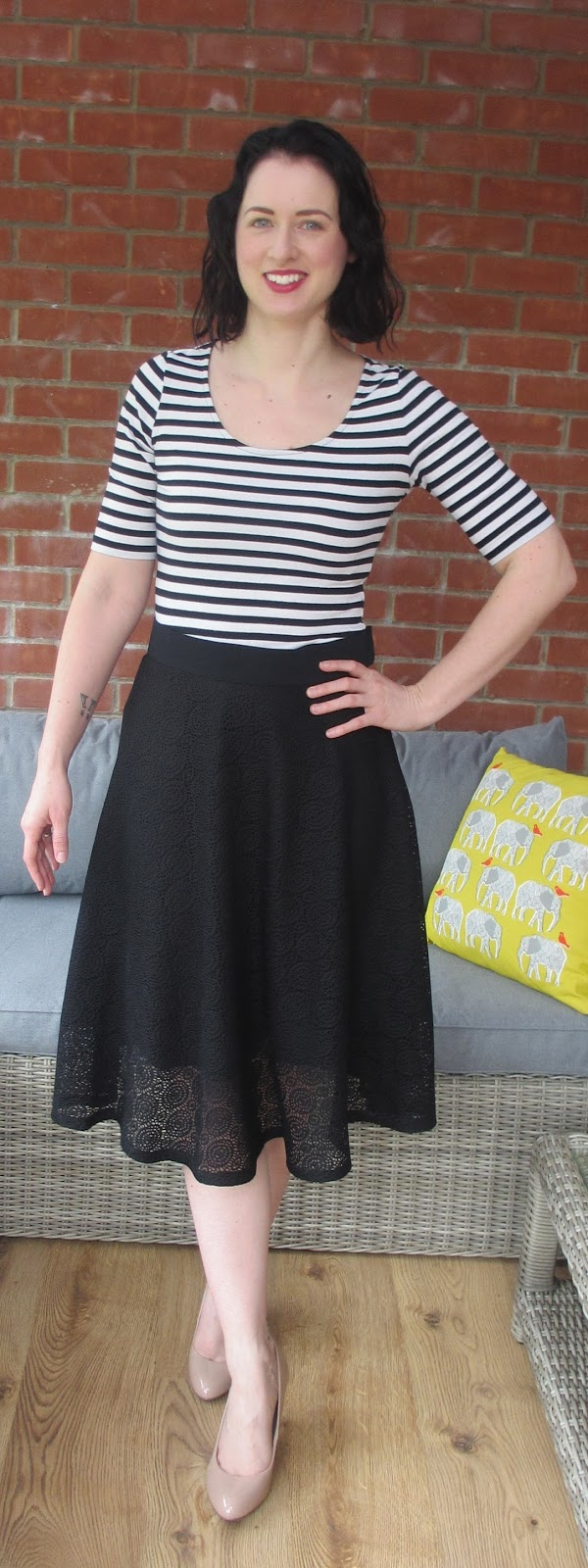Crafty Clyde: Mimi G Copy - Black Lace Circle Skirt