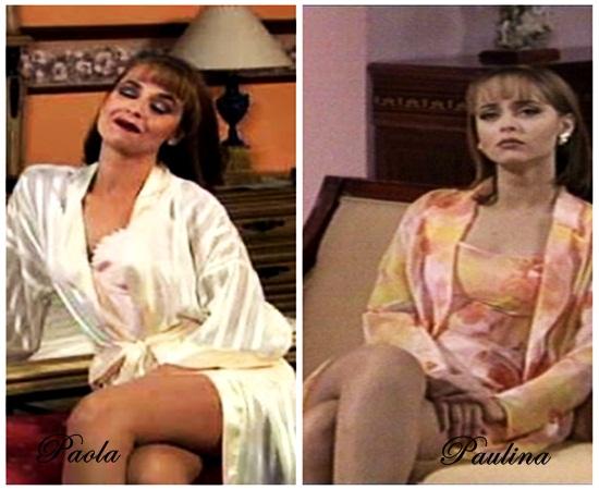 Paola sensual e Paulina romântica