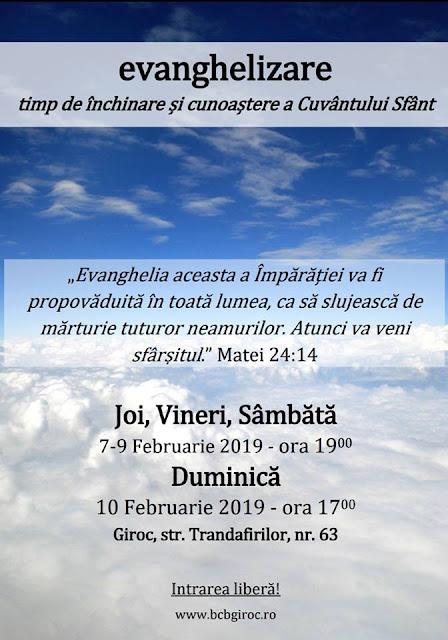 Evanghelizare la Biserica Baptistă din Giroc