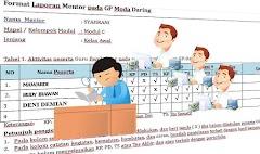 Format Laporan Mentor Kemajuan Peserta Pada GP Moda Daring